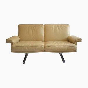 Sofá de dos plazas DS 35 suizo vintage de De Sede, años 70