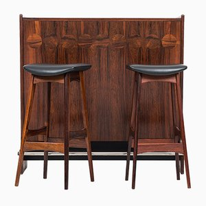 Model SK661 Bar with Stools by Johannes Andersen for J. Skaaning & Son & Brdr. Andersen, 1950s