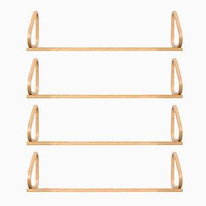Mid-Century Wall Shelves Model 112b by Alvar Aalto for Artek, Set of 4