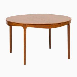 Tavolo da pranzo in mogano di Ole Wanscher per A.J. Iversen, anni '40