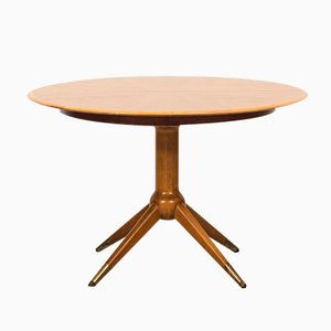 Round Dining Table by David Rosén for Nordiska Kompaniet, 1950s