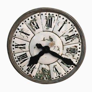 Esfera de reloj de iglesia francesa antigua