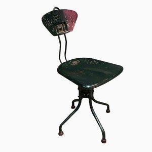 Industrieller Metall Stuhl von Henri Lieber für Flambo, 1930