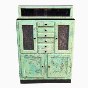 Mueble de dentista francés de madera, años 50
