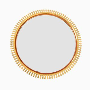 Swedish Brass Sun Mirror, 1950s