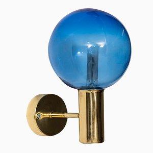 Schwedische Blaue Mid-Century V-149 Wandlampe von Hans-Agne Jakobsson