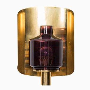 Schwedische Messing & Glas V-222 Wandlampe von Hans-Agne Jakobsson, 1960er