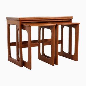 Teak Satztische mit Drehbaren Tischplatten von McIntosh, 3er Set
