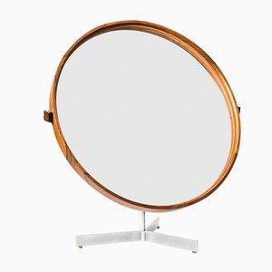 Miroir de Table Rond par Uno & Östen Kristiansson pour Luxus, 1960s