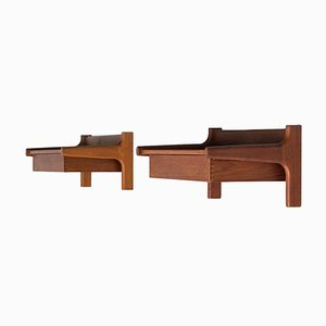 Teak Bedside Shelves by Børge Mogensen for Søborg Møbelfabrik, Set of 2