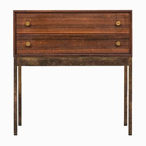 Swedish Rosewood and Brass Commode