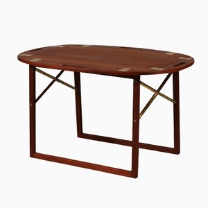 Teak Tray Coffee Table by Svend Langkilde for Illums Bolighus, 1960s