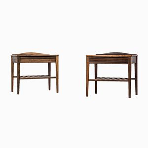 Mid-Century Brazilian Rosewood Side Tables, Set of 2