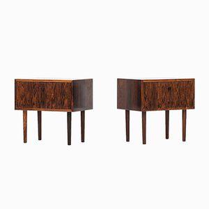 Danish Rosewood Bedside Tables, Set of 2