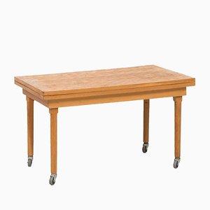 Tavolino allungabile in quercia, anni '60