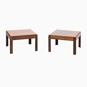 Plexus Rosewood Side Tables by Illum Wikkelsø for CFC Silkeborg, Set of 2