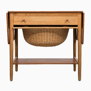 AT 33 Sewing Table by Hans J. Wegner for Andreas Tuck, 1950s