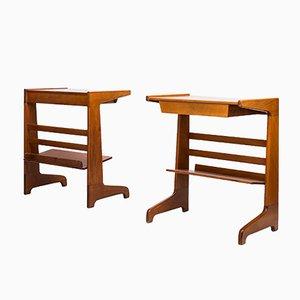Swedish Futura Bedside Tables by David Rosén for Nordiska Kompaniet, 1950s, Set of 2