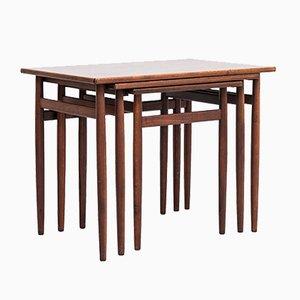 Tavolini a incastro in palissandro di Tove & Edvard Kindt-Larsen per Seffle Möbelfabrik, Svezia, anni '60