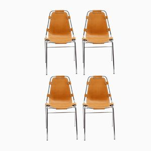 French Les Arcs Chairs by Charlotte Perriand, 1970s, Set of 4