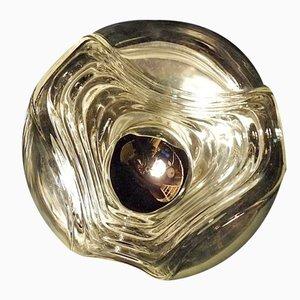 Lámpara de pared modernista alemana de vidrio de Peill & Putzler, años 60