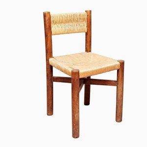 Französischer Meribel Stuhl von Charlotte Perriand für Georges Blanchon, 1950er
