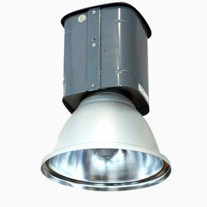 Lampe d'Usine Industrielle Peinte en Grise, 1970s