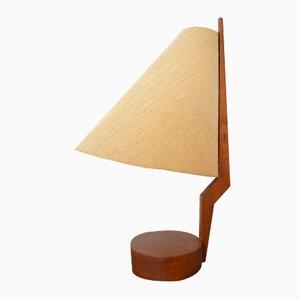 Lampe de Table Mid-Century Scandinave en Teck, 1960s