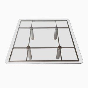Mesa de centro italiana cuadrada de vidrio de Tobia Scarpa para Gavina, años 60