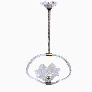 Lámpara colgante de Ercole Barovier para Barovier & Toso, años 40