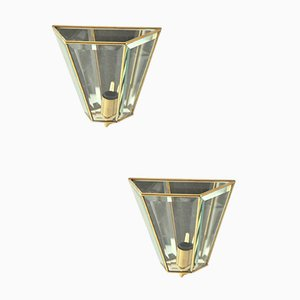 Italian Mid-Century Wall Sconces by Crystal Arte, Set of 2