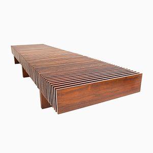Panca in legno Jacaranda di Carlo Hauner & Martin Eisler per Forma Moveis, anni '50