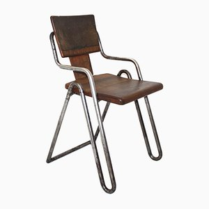 Vintage Tubular Steel Chair by Peter Behrens, 1930s