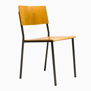 Danish Minimalist Oak Stacking Chair