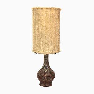 Lampada da tavolo in ceramica di Accolay, Francia, anni '70