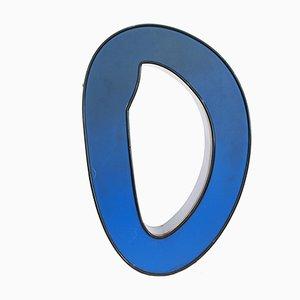 Blauer Mid-Century Leuchtbuchstabe O