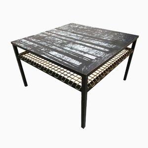 Table Basse avec Dessus Imprimé de Forêt par Georges Adrien Tigie, 1965
