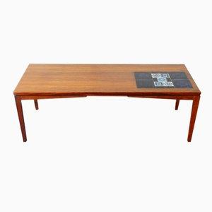 Tavolino da caffè Mid-Century con piastrelle