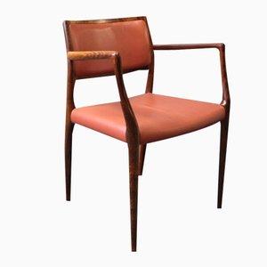 Modell 65 Armlehnstuhl von N.O. Moeller für J.L. Moeller, 1960er