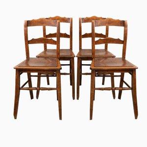 Estnische Bistro Stühle von Luterma, 1900er, 4er Set