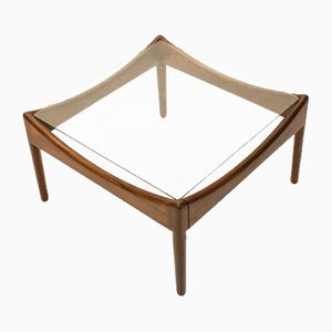 Danish Rosewood & Glass Side Table by Kristian Vedel for Søren Willadsen, 1963