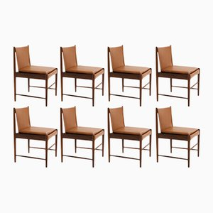 Cantu Low Chairs by Sergio Rodrigues for OCA, 1949, Set of 8