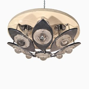 Lámpara de techo italiana vintage de Oscar Torlasco