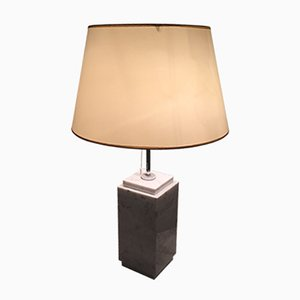 White Carrara Marble Lamp from Knoll