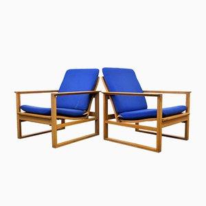 Poltrone 2256 di Børge Mogensen per Fredericia Furniture, Danimarca, anni '50, set di 2