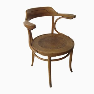 French Beech Chair with Armrests from Luterma, 1930s