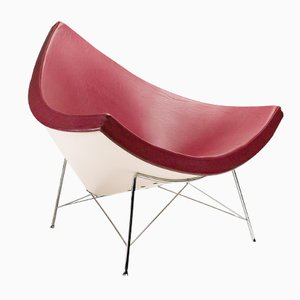 American Oxblood Red Leather Coconut Chair by George Nelson for Vitra, 1980s