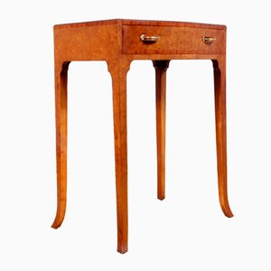 Art Deco Birds Eye Maple Side Table, 1930s