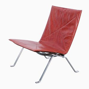 Dänischer PK22 Sessel von Poul Kjaerholm für E Kold Christensen, 1950er
