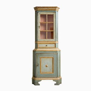 Antique Baroque Corner Display Cabinet